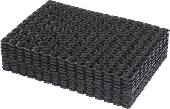 Lábtörlő Ring Rubber - Fekete, konvencionális, Műanyag (40/60cm) - Homezone