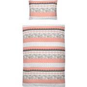 Bettwäsche Lea Ornamentdessin - Dunkelgrau/Hellgrau, MODERN, Textil (140/200cm)