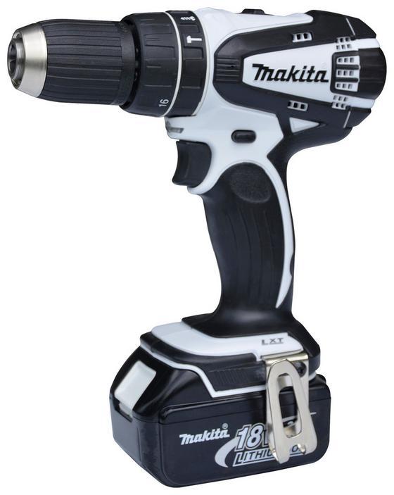 Makita Akkuschrauber Set DHP456RF01 - Schwarz/Weiß, MODERN, Kunststoff/Metall - Makita