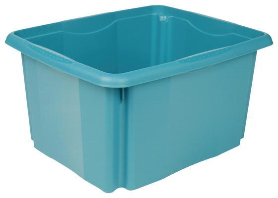 Doboz Emil - petrol, konvencionális, műanyag (41/34,5/22cm)