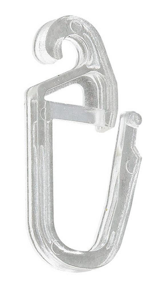 Faltenhaken Klar, 25 Stk. - Klar, KONVENTIONELL, Kunststoff (1/2.5cm) - Ombra