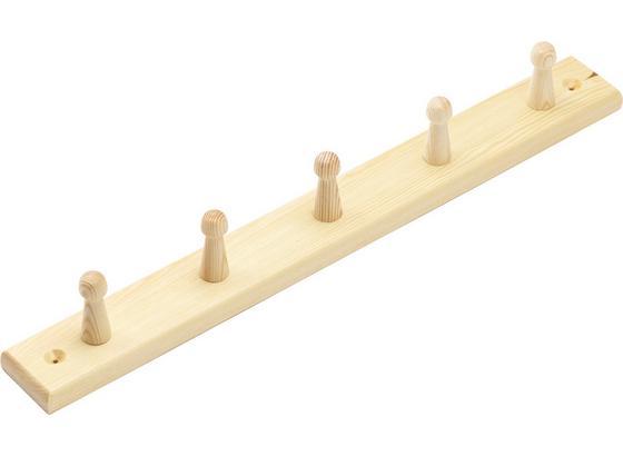 Fa Akasztó 5 Akasztó - Feketefenyő, konvencionális, Fa (50/5,5cm)