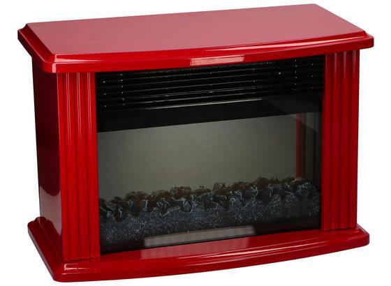 Elektrokamin 750/1500 Rot 2 Heizstufen Flammeff Milano - Schwarz/Dunkelrot, MODERN, Glas/Metall (38,5/25,2/20cm)