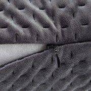 Ozdobný Polštář Miley - šedá, Moderní, textil (45/45cm) - Modern Living