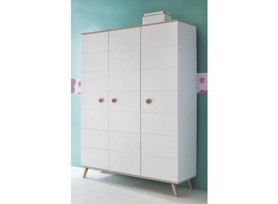 Skříň Billund - bílá/barvy dubu, Moderní, dřevo/kompozitní dřevo (125/202/55cm) - Modern Living