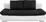 Sofa Cannes - Schwarz/Weiß, MODERN, Textil (202/97/71cm)