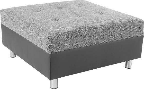 Taburet Linda - bílá/světle šedá, Moderní, textil (83/44/78cm)