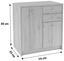 Kommode B:74cm San Remo Eiche/ Holzdekor - Eichefarben, MODERN, Holzwerkstoff (74/85,4/34,6cm)