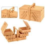Nähkorb B: 18,5 cm Kiefer - Hellbraun, Basics, Holz (18,5/30/18,5cm)
