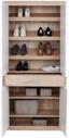 Šatná Skriňa Malta - farby dubu/biela, Moderný, kompozitné drevo (95/196,8/36cm)