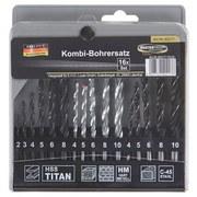 Bohrersatz 16-teilig - Silberfarben/Graphitfarben, KONVENTIONELL, Metall