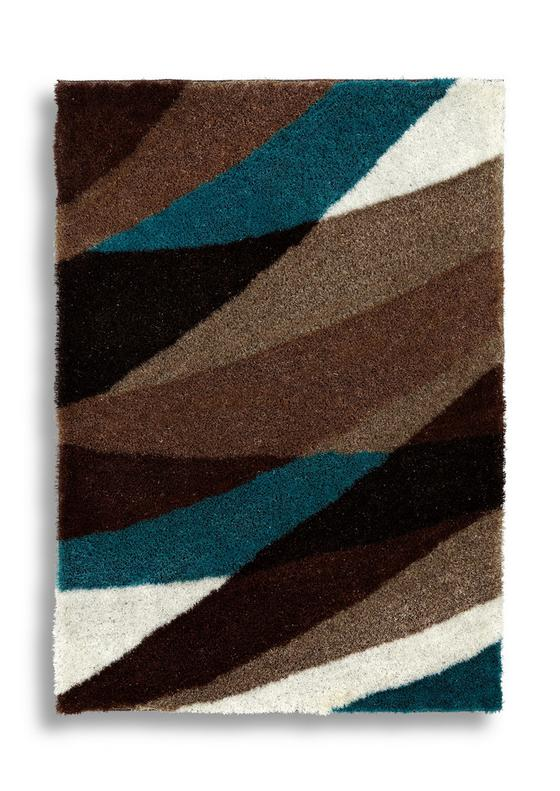 Hochflorteppich Vera 120x170 cm - Blau/Braun, Textil (120/170cm) - Luca Bessoni