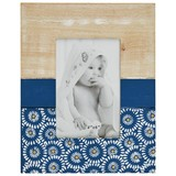 Bilderrahmen Alesha 19x24 cm - Blau/Naturfarben, Natur, Glas/Holzwerkstoff (19/24cm) - Luca Bessoni