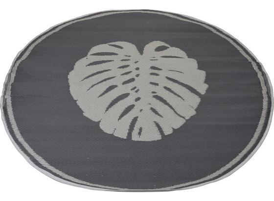 Outdoorteppich Blatt - Grau, MODERN, Kunststoff (150cm)