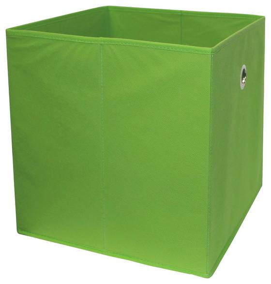 Skladací Box Cubi - zelená, Moderný, drevený materiál/textil (32/32/32cm)