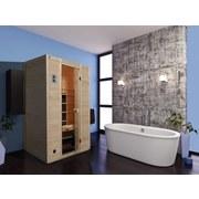 Infrarotkabine Vaala 2 131x100 - Fichtefarben, MODERN, Glas/Holz (131/196/100cm)