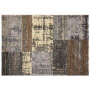 Webteppich Grau - Beige/Braun, Basics, Textil (160/230cm) - Ombra