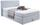 Boxspringbett Allegra 140x200 Pastellblau - Schwarz/Weiß, KONVENTIONELL, Holz/Holzwerkstoff (140/200cm)