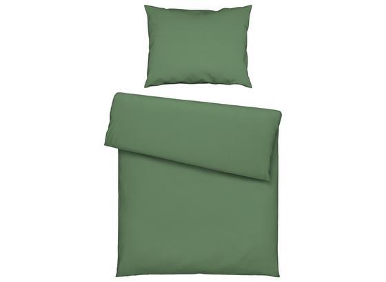 Povlečení Stone Washed Uni Ca. 140x200cm - zelená, Romantický / Rustikální, textilie (140/200cm) - Mömax modern living