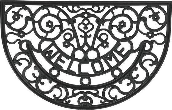 Lábtörlő Halfmoon - fekete, konvencionális, műanyag (40/60cm)