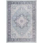 Orientalischer Webteppich Grau / Blau Lexi 120x170 cm - Blau/Grau, ROMANTIK / LANDHAUS, Textil (120/170cm) - James Wood