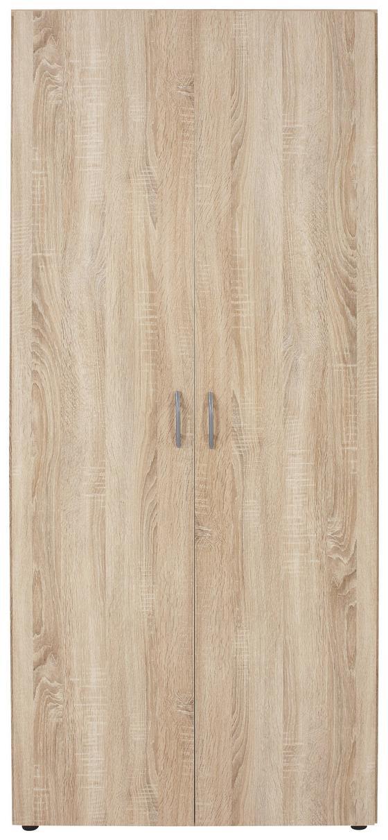 Skříň Šatní Base 2 - barvy dubu, Konvenční, dřevěný materiál (80/177/52cm)