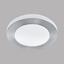 Deckenleuchte Carpi - Alufarben/Weiß, MODERN, Kunststoff/Metall (30/7,5cm)