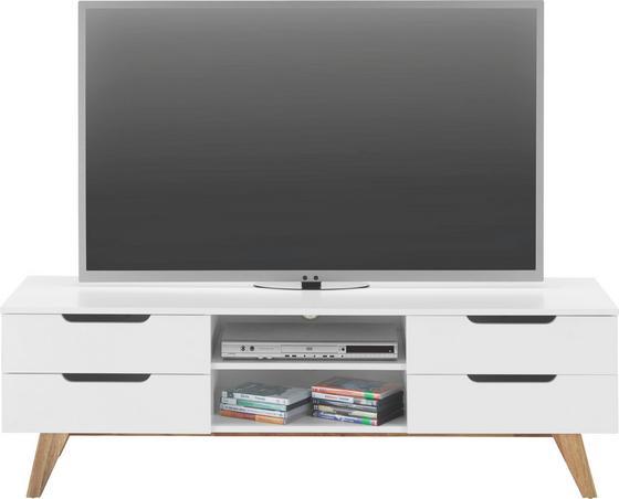 Stolek Na Elektroniku Durham - bílá/přírodní barvy, Moderní, dřevo/dřevěný materiál (150/47,5/45cm) - Mömax modern living