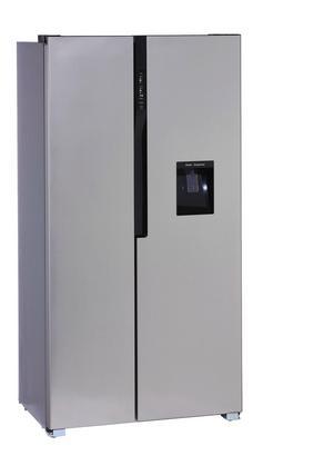 Side-by-Side-Kühlschrank in Edelstahlfarben