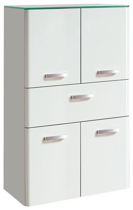 Midischrank Phönix 70 cm Weiß - Weiß, MODERN, Holzwerkstoff (70/114/35cm)