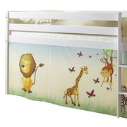 Spielbett Malte 90x200 cm Safari - Multicolor/Weiß, Natur, Holz (90/200cm) - MID.YOU