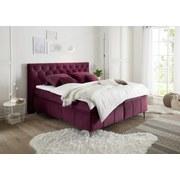 Boxspringbett mit Topper 180x200 Pembroke - Bordeaux/Lila, Basics, Holzwerkstoff/Textil (180/200cm) - MID.YOU