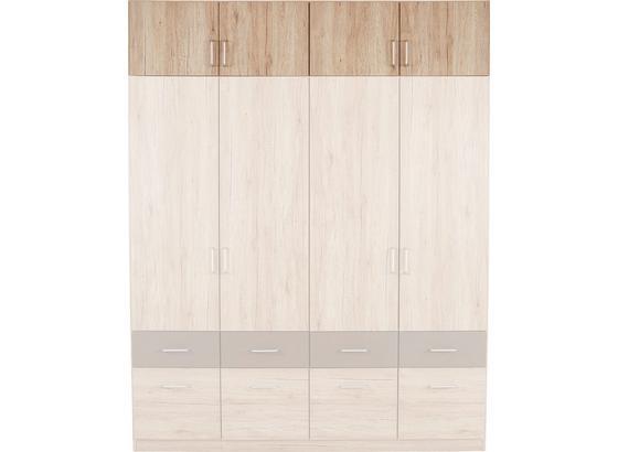 Nástavec Na Skříň Aalen-extra - barvy dubu, Konvenční, kompozitní dřevo (181/39cm)