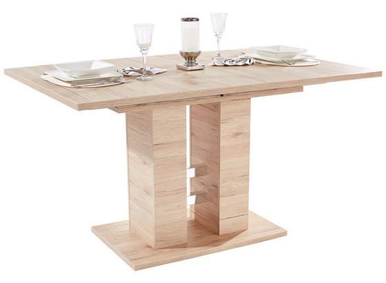 Kihúzható Asztal Helena - Tölgyfa, konvencionális, Faalapú anyag (140/76/90cm)