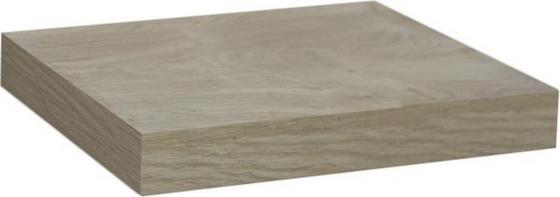 Nástenná Polica Simple - farby dubu, Moderný, kompozitné drevo (23,5/3,8/23,5cm)