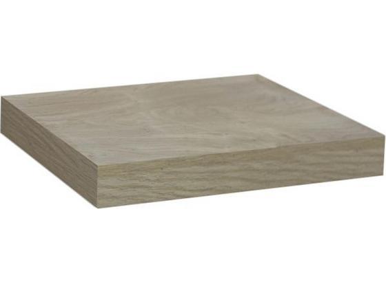 Wandboard Simple B:24cm, Sonoma Eiche Dekor - Eichefarben, MODERN, Holzwerkstoff (23,5/3,8/23,5cm)