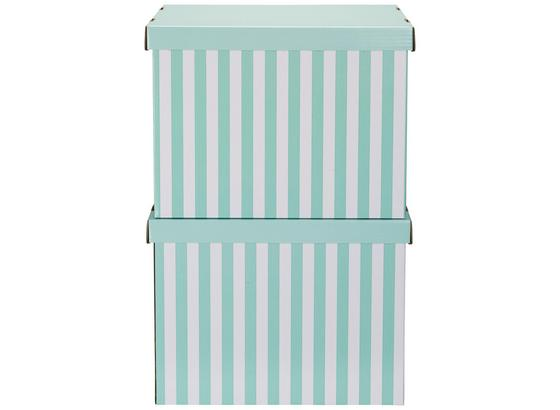 Box S Víkem Jimmy - bílá/zelená, karton (44,3/33,5/32,5cm) - Mömax modern living