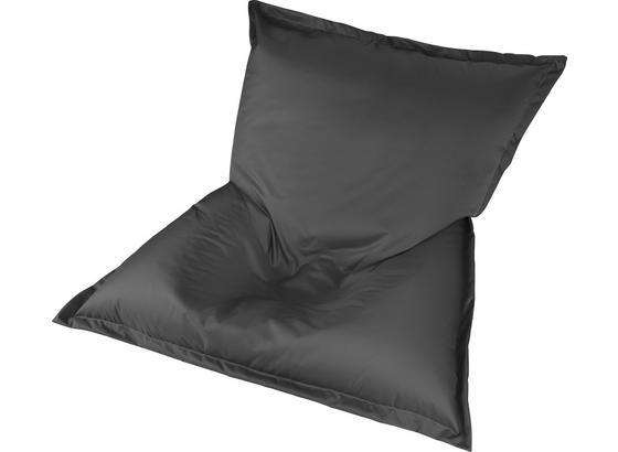 Sitzsack Outdoor XL Anthrazit 170x130 cm - Anthrazit/Weiß, MODERN, Textil (170/130/40cm) - Ombra