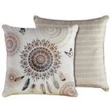 Zierkissen-doubleface Vandya - Sandfarben, Textil (48/48cm)