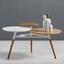 Konferenčný Stolík Ryan - bílá/barvy jilmu, Moderní, kov/dřevo (92,5/64/50cm) - Mömax modern living