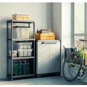 Kunststoffregal Plus 60/4 60/135/30 - Anthrazit, KONVENTIONELL, Kunststoff (60/135/30cm)