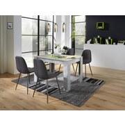 Tischgruppe Carina - Anthrazit/Grau, MODERN, Holzwerkstoff/Textil