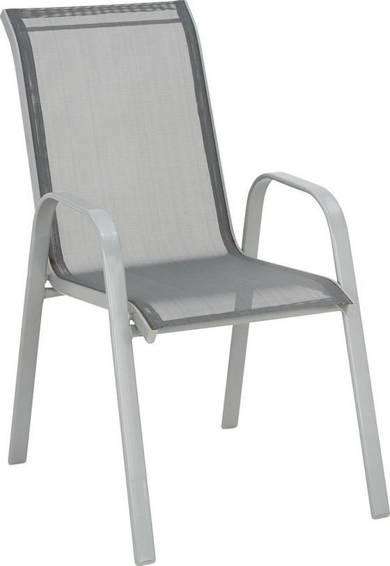 Stohovatelná Židle Stitch - antracitová/barvy hliníku, kov/textil (54/96/76cm) - MÖMAX modern living