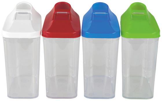 Tárolódoboz Color - natúr színek/piros, konvencionális, műanyag (7.5/15.5/13cm)
