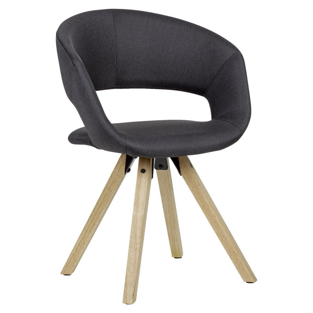 Jedálenská stolička s podrúčkami Čierna