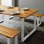 Záhradná Lavica Leonor - biela/farby akácie, Moderný, kov/drevo (170/43/33,5cm) - Modern Living