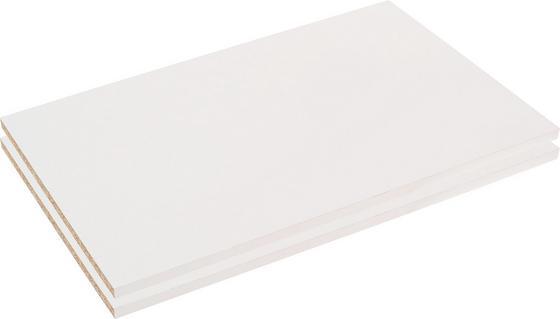 Belső Polc Szett Viktor4 Tolóajtós Szekrényhez - fehér, modern, fa (83/2,2/48cm)