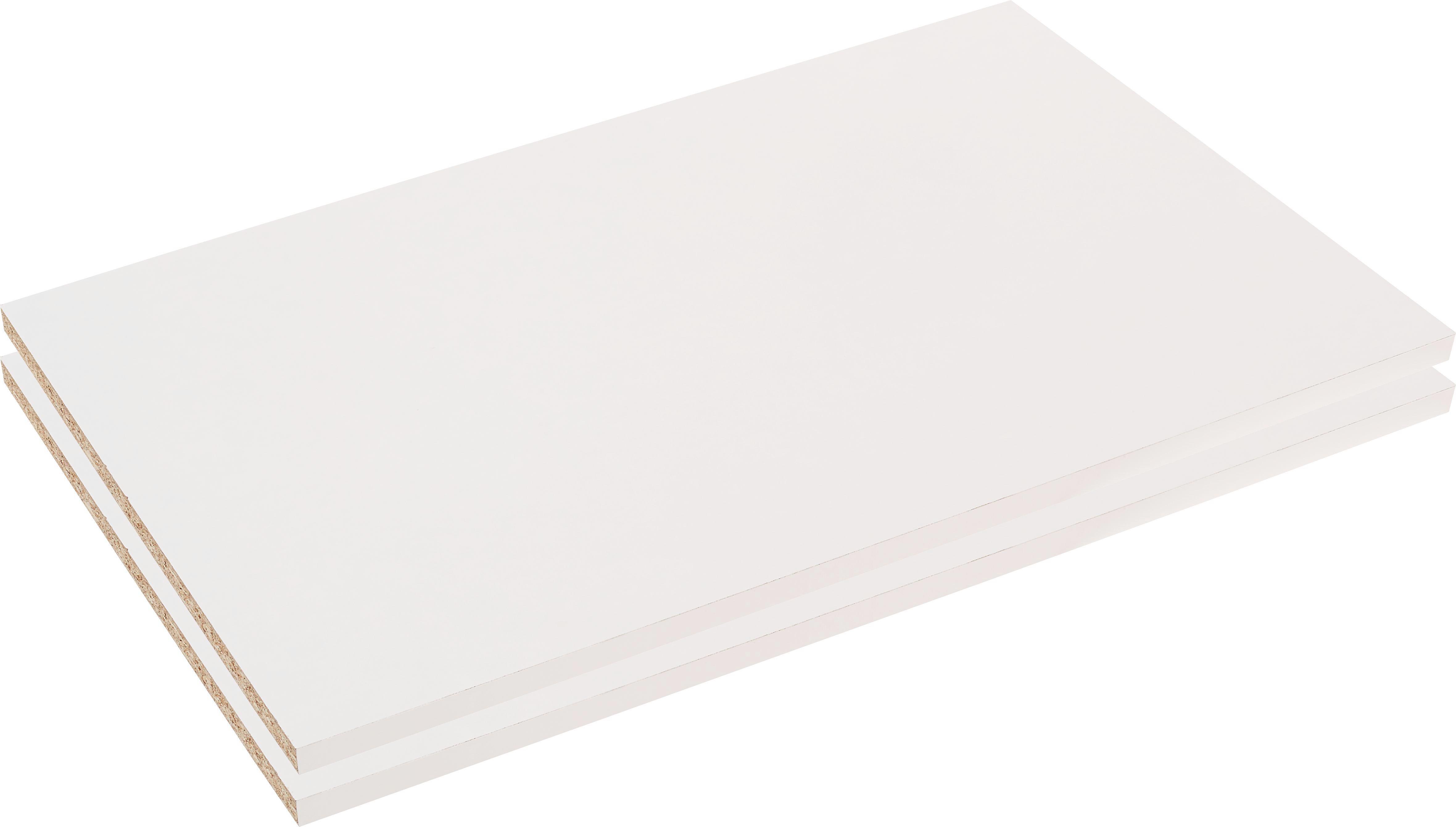 Sada Vkládacích Polic Julia/moon, Set 2 Kusů - bílá, Moderní, dřevo (83/2,2/48cm)