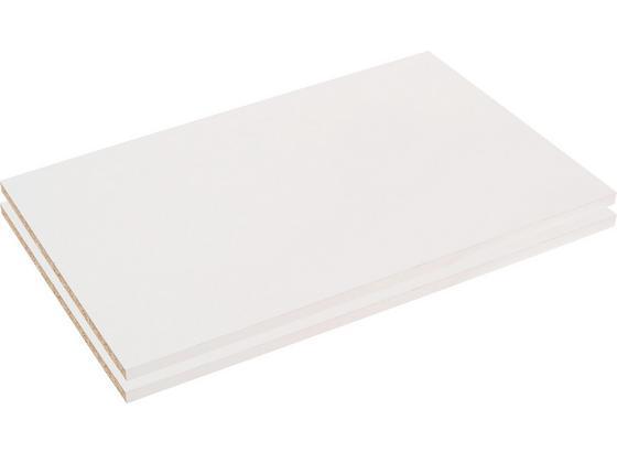 Vkládací Police Moon - bílá, Moderní, kompozitní dřevo (118/2,2/46,5cm)