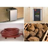 Saunaofen 7,5 Kw, Bios, 230v - Alufarben, MODERN, Metall (38/67/37cm)
